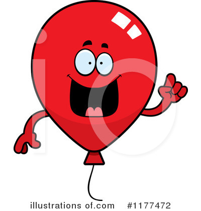 Party Balloon Character Clipart #1177472 by Cory Thoman