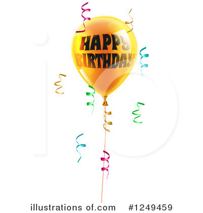 Happy Birthday Clipart #1249459 by AtStockIllustration