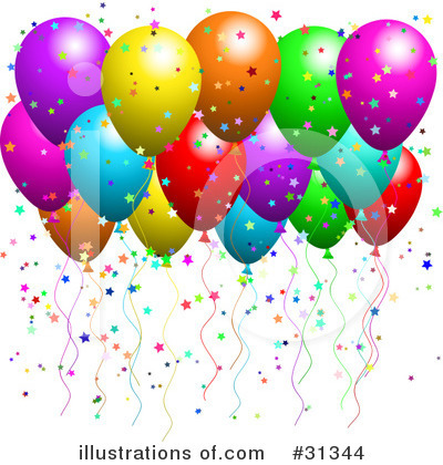 Party Balloons Clipart #31344 by KJ Pargeter