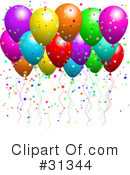 Royalty-Free (RF) Balloon Clipart Illustration #31344