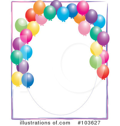 Royalty-Free (RF) Balloons Clipart Illustration by Pams Clipart - Stock Sample #103627