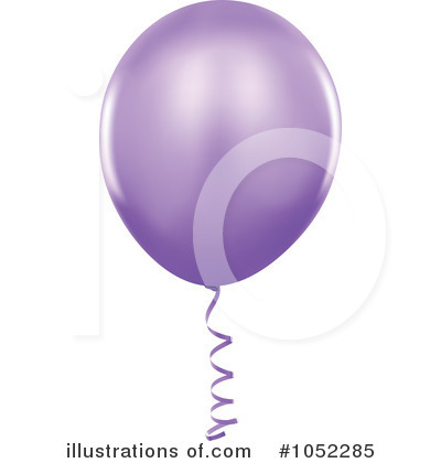 Purple Party Balloon Clipart #1052285 by dero