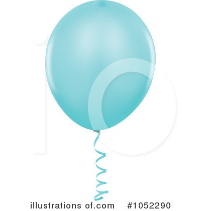 Blue Party Balloon Clipart #1052290 by dero