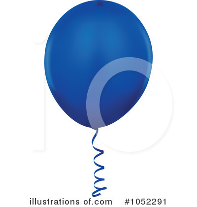 Blue Party Balloon Clipart #1052291 by dero