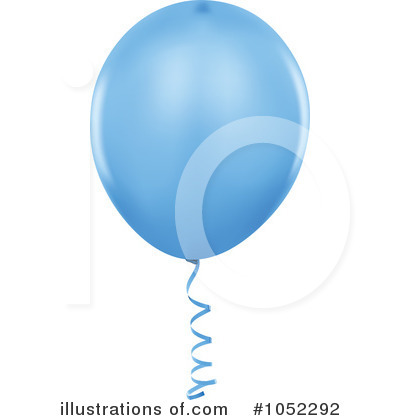 Blue Party Balloon Clipart #1052292 by dero