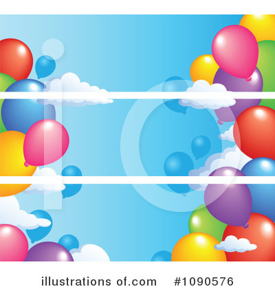 Royalty-Free (RF) Balloons Clipart Illustration by visekart - Stock Sample #1090576