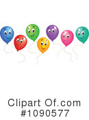 Royalty-Free (RF) Balloons Clipart Illustration #1090577