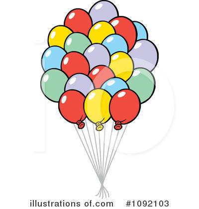 Balloons Clipart 1092103 Illustration By Johnny Sajem