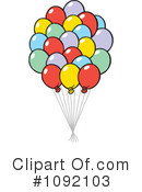 Balloons Clipart #1092103 by Johnny Sajem
