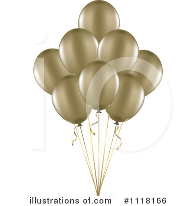 Party Balloons Clipart #1118166 by KJ Pargeter