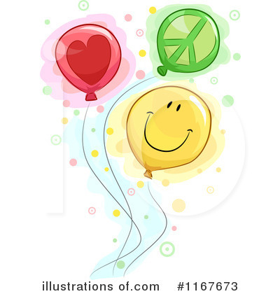 Party Balloons Clipart #1167673 by BNP Design Studio