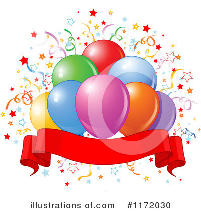 Party Balloons Clipart #1172030 by Pushkin