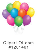 Royalty-Free (RF) Balloons Clipart Illustration #1201481