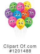 Royalty-Free (RF) Balloons Clipart Illustration #1201488