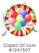Balloons Clipart #1241507 by Graphics RF