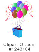 Balloons Clipart #1243104 by Graphics RF