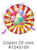 Balloons Clipart #1243106 by Graphics RF