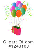 Balloons Clipart #1243108 by Graphics RF