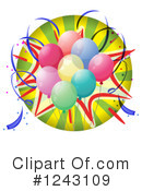 Balloons Clipart #1243109 by Graphics RF