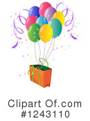 Balloons Clipart #1243110 by Graphics RF