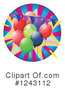 Balloons Clipart #1243112 by Graphics RF