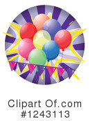 Balloons Clipart #1243113 by Graphics RF