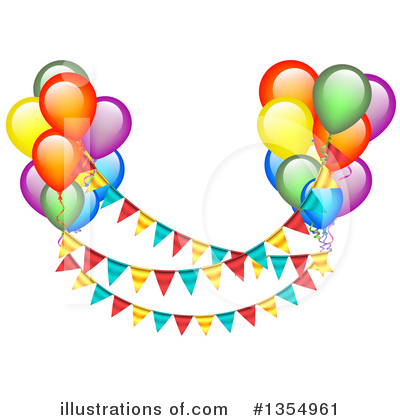 Balloons Clipart #1354961 by vectorace