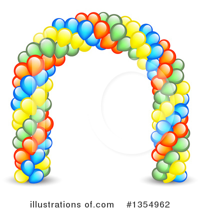 Royalty-Free (RF) Balloons Clipart Illustration by vectorace - Stock Sample #1354962