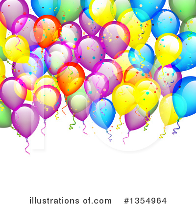 Balloons Clipart #1354964 by vectorace