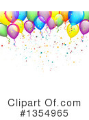 Royalty-Free (RF) Balloons Clipart Illustration #1354965