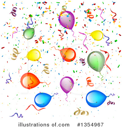 Balloons Clipart #1354967 by vectorace