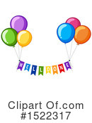 Balloons Clipart #1522317 by Graphics RF