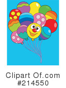 Royalty-Free (RF) Balloons Clipart Illustration #214550