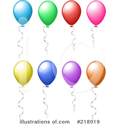 Party Balloons Clipart #218019 by KJ Pargeter