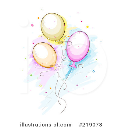 Party Balloons Clipart #219078 by BNP Design Studio