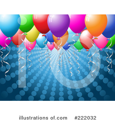 Party Balloons Clipart #222032 by KJ Pargeter