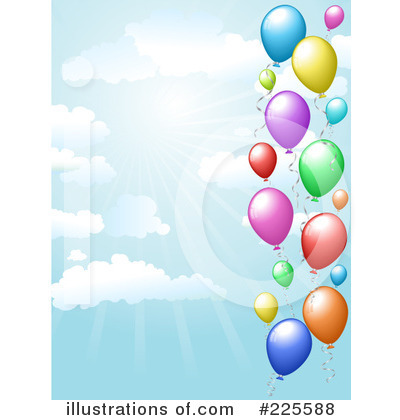 Party Balloons Clipart #225588 by KJ Pargeter