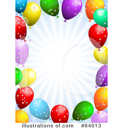 Party Balloons Clipart #64013 by KJ Pargeter