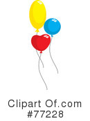 Royalty-Free (RF) Balloons Clipart Illustration #77228