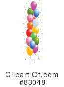 Royalty-Free (RF) Balloons Clipart Illustration #83048