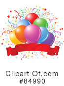 Royalty-Free (RF) Balloons Clipart Illustration #84990