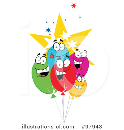 Balloons Clipart #97943 by Hit Toon