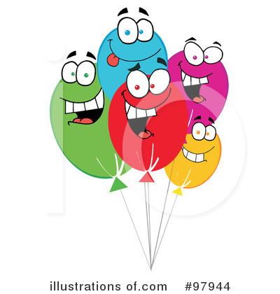 Royalty-Free (RF) Balloons Clipart Illustration by Hit Toon - Stock Sample #97944