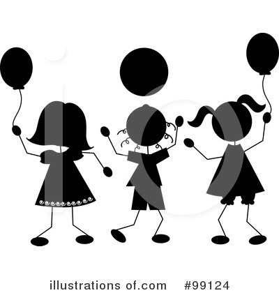Balloons Clipart #99124 by Pams Clipart
