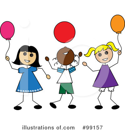 Royalty-Free (RF) Balloons Clipart Illustration by Pams Clipart - Stock Sample #99157