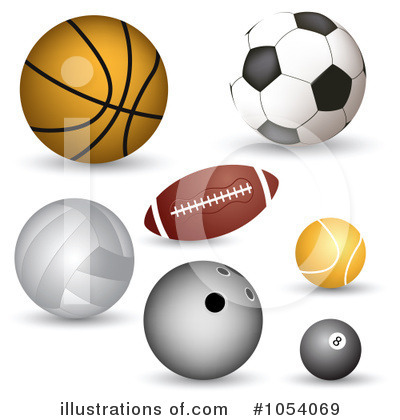 Royalty free rf balls clipart illustration by vectorace stock