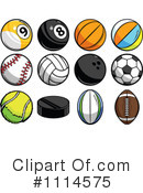 Royalty-Free (RF) Balls Clipart Illustration #1114575