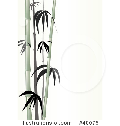 Bamboo Clip Art Black and White