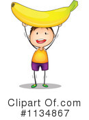 Royalty-Free (RF) Banana Clipart Illustration #1134867