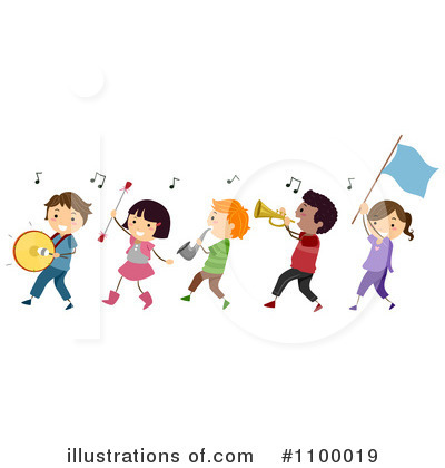 Marching Band Clipart #1100019 by BNP Design Studio
